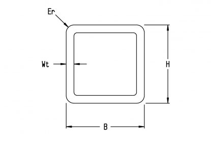 Harris Steels diagrams Cold-formed square Hollow Section