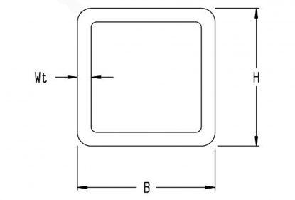 ERW square tube