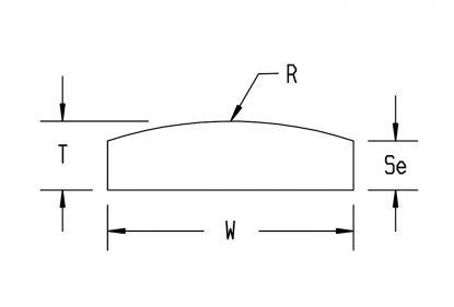 square-edge convex
